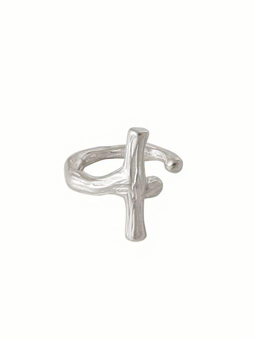 Dak Phoenix 925 Sterling Silver Cross Minimalist Stud Earring[Single] 4